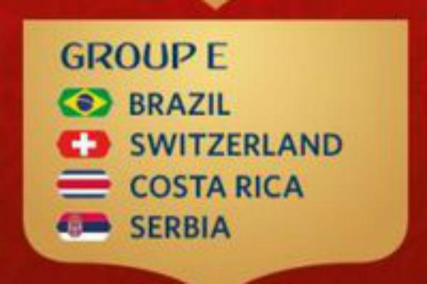 Brasil di Klasemen Grup E Piala Dunia 2018
